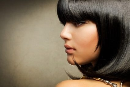 Style Cut Medium Length Straight Dark Hair
