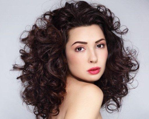 Dark Curly Hair Organically Coloured