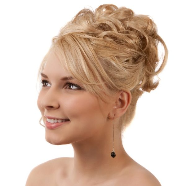 Formal Hairstyle for blonde hair up