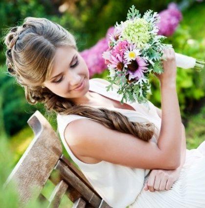 pretty wedding hairstyle